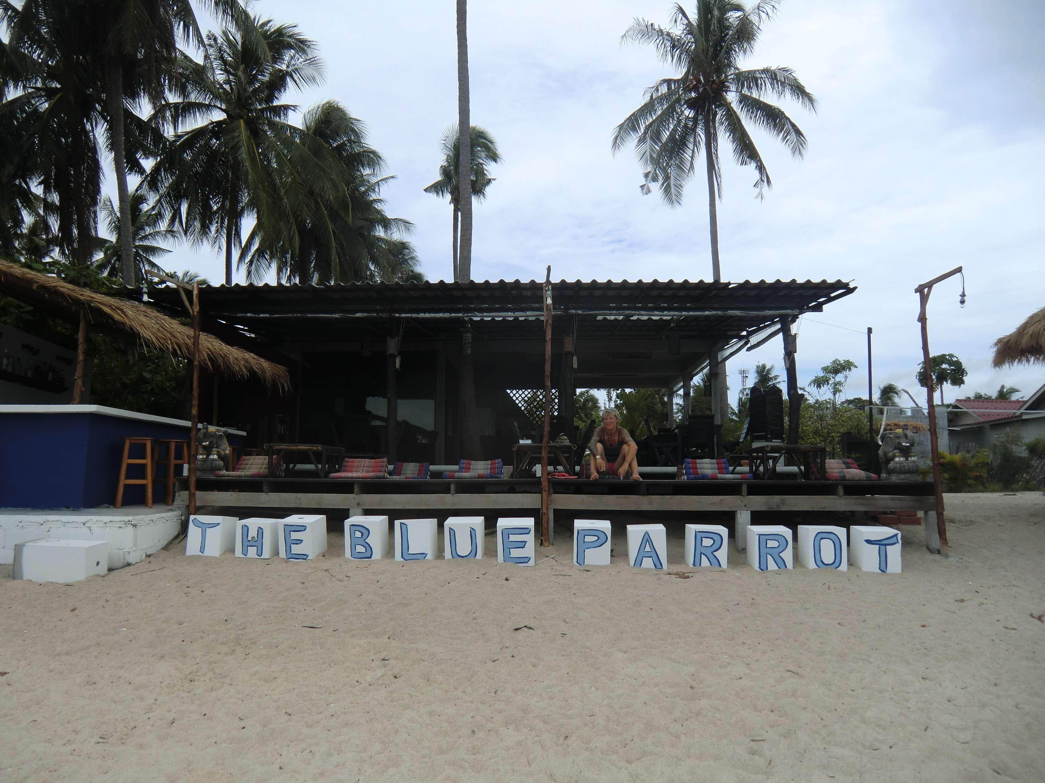 Resort vom Strand aus mit Chillarea